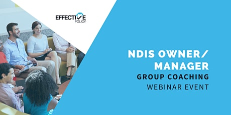NDIS Owner /Manager - Group Coaching tickets