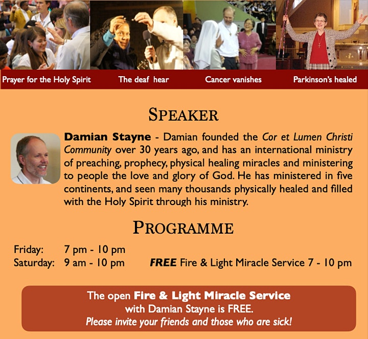 Healing Signs & Wonders ONLINE with Damian Stayne image