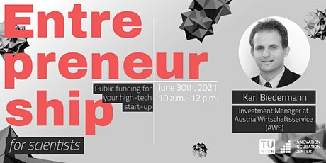 #E4s - Public funding for your high-tech start-up tickets