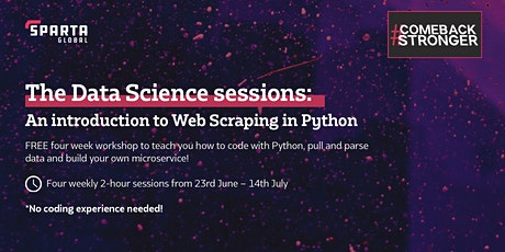 The Data Science Sessions: An Introduction to Web Scraping in Python tickets