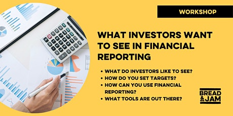 Workshop: What VCs and Investors Want to See in Financial Reporting tickets