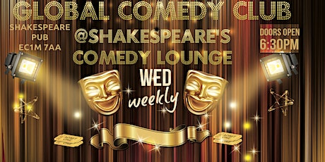 Global Comedy @Shakespeares Wed tickets