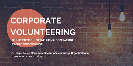 """Online-Workshopreihe für NPOs  """"Sinnstiftende Unternehmenskooperationen"""" Tickets"""