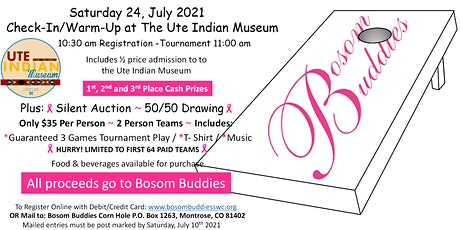 1st Annual Bosom Buddies Cornhole Fun Tournament! tickets