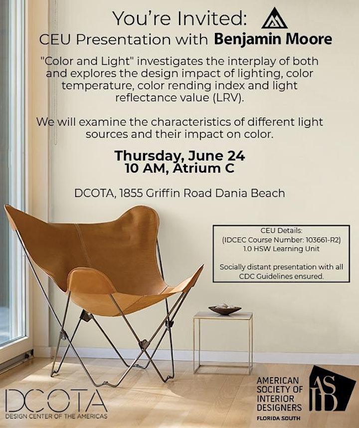 DCOTA CEU Presentation with Benjamin Moore and ASID Florida South Chapter image