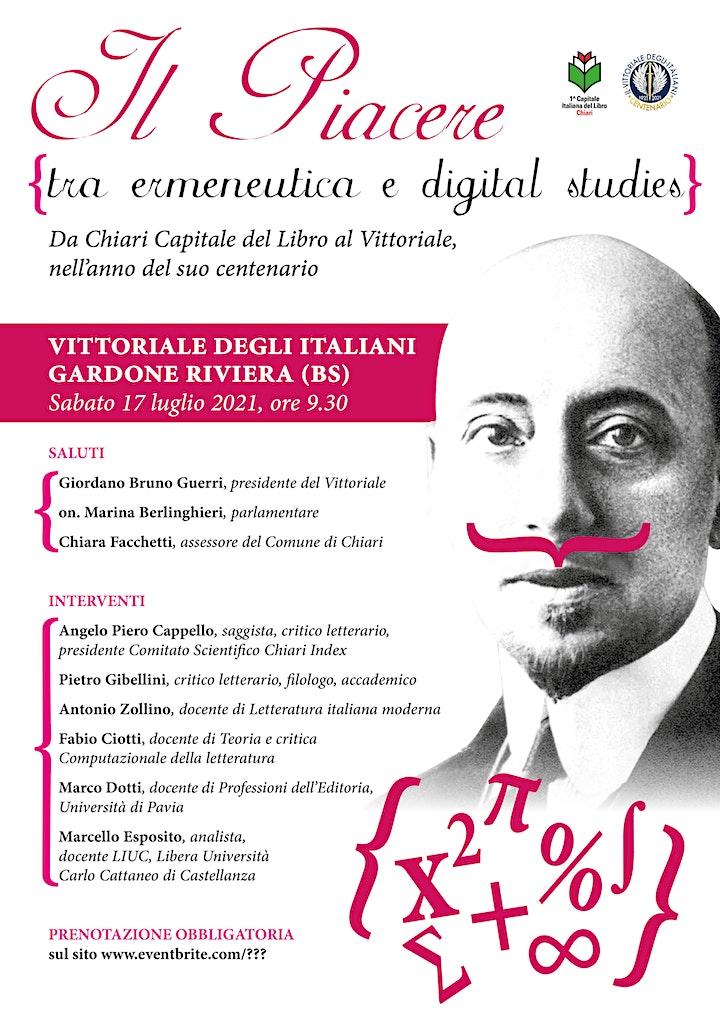 Immagine Il Piacere tra ermeneutica e digital studies