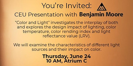 DCOTA CEU Presentation with Benjamin Moore and ASID Florida South Chapter tickets