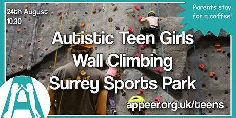 Appeer Teen Girls Climbing Wall experience at Surrey Sports Park tickets