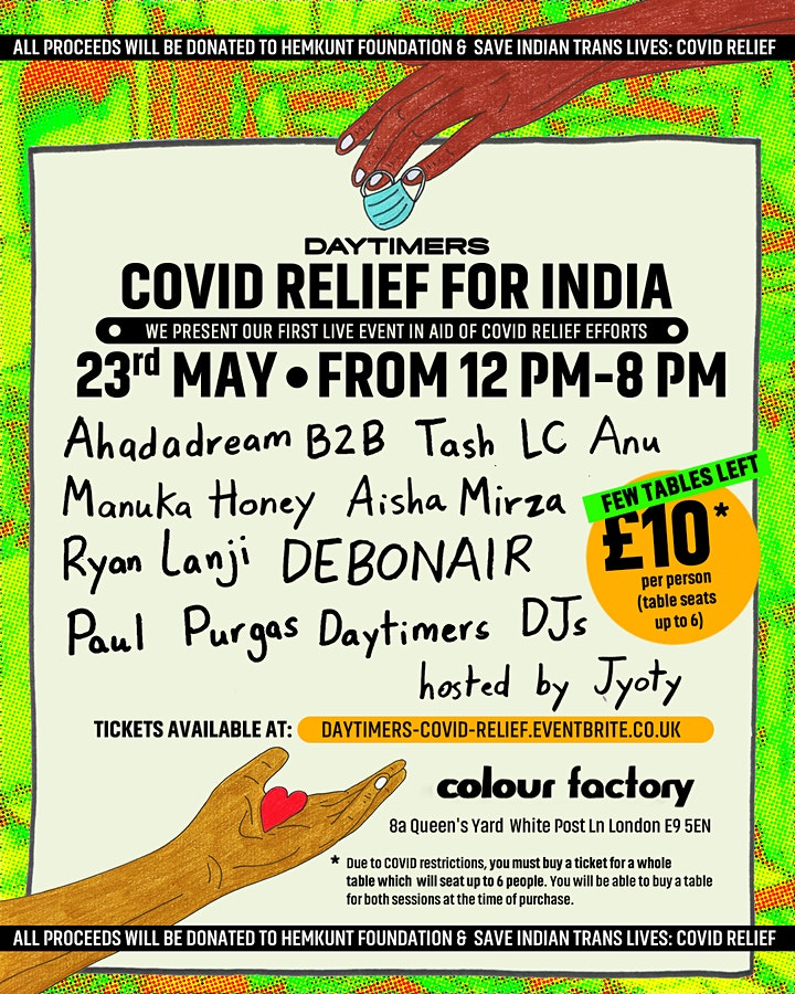 Daytimers: Support for COVID Relief in India image