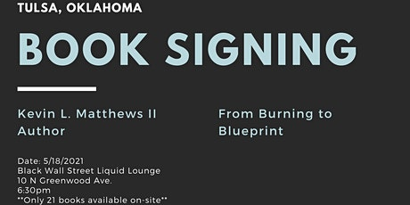 From Burning to Blueprint Book Signing tickets