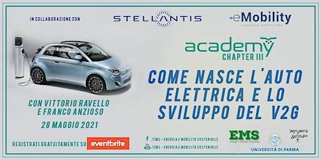 Come nasce l'auto elettrica e lo sviluppo del V2G biglietti