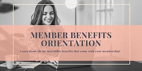 Member Benefits Orientation tickets