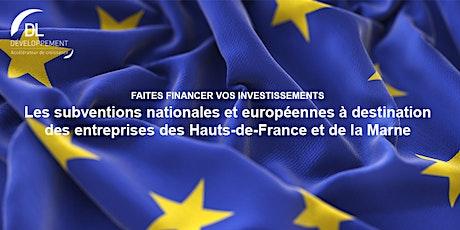 Les subventions nationales et européennes à destination des entreprises billets