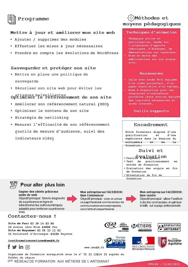 Image pour Stage  METTRE A JOUR ET AMÉLIORER SON SITE WEB  (2 jours)