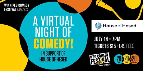 A virtual night of comedy In support of House of Hesed tickets