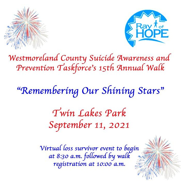 Ray of Hope Suicide Awareness Walk image