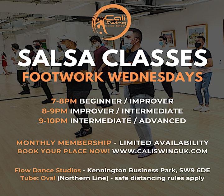 June Salsa Studio Classes with Cali Swing on Wednesdays & Fridays! image