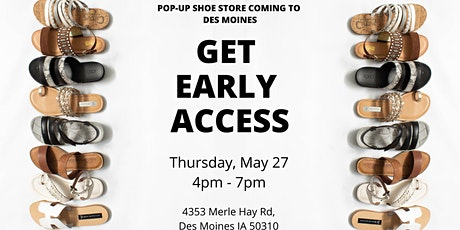 Warehouse Sale Pop-Up Shoe Store Early Access Event in Des Moines, IA tickets