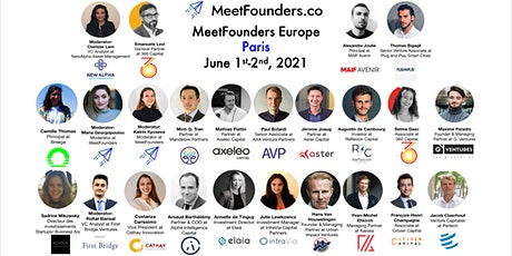 MeetFounders Europe [PARIS June 2021] Venture Capital Conference tickets
