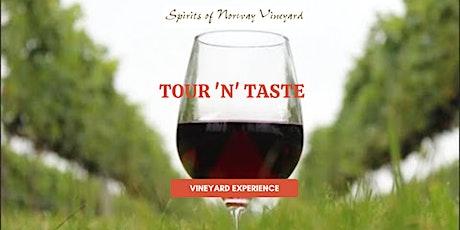 Spirits of Norway Vineyard Experience - Tour N Taste - September 5th -3pm tickets