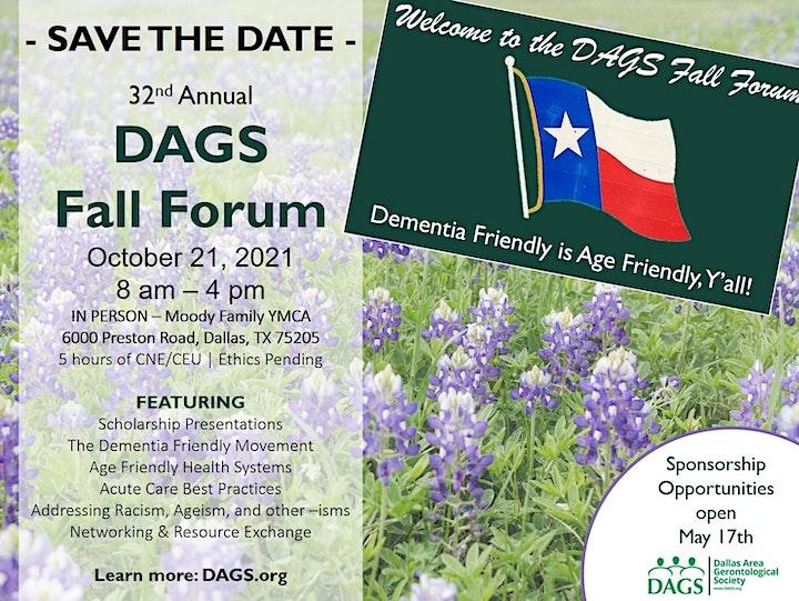 DAGS Fall Forum   Dementia Friendly is Texas Friendly, Y'All image