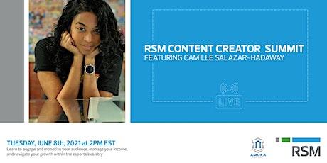 RSM Content Creator Summit tickets