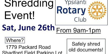 Rotary Club Shredding Event tickets