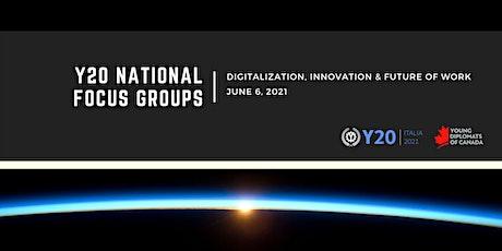 Y20 Focus Group Discussion - Digitalization, Innovation & Future of Work biglietti