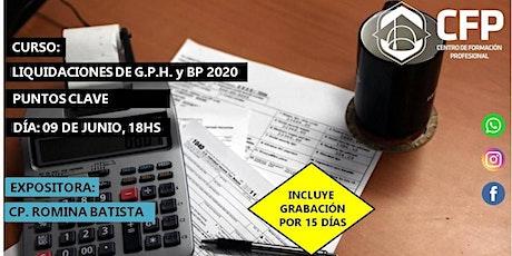 Puntos Clave en las liquidaciones de G.P.H. y B.P. 2020 entradas