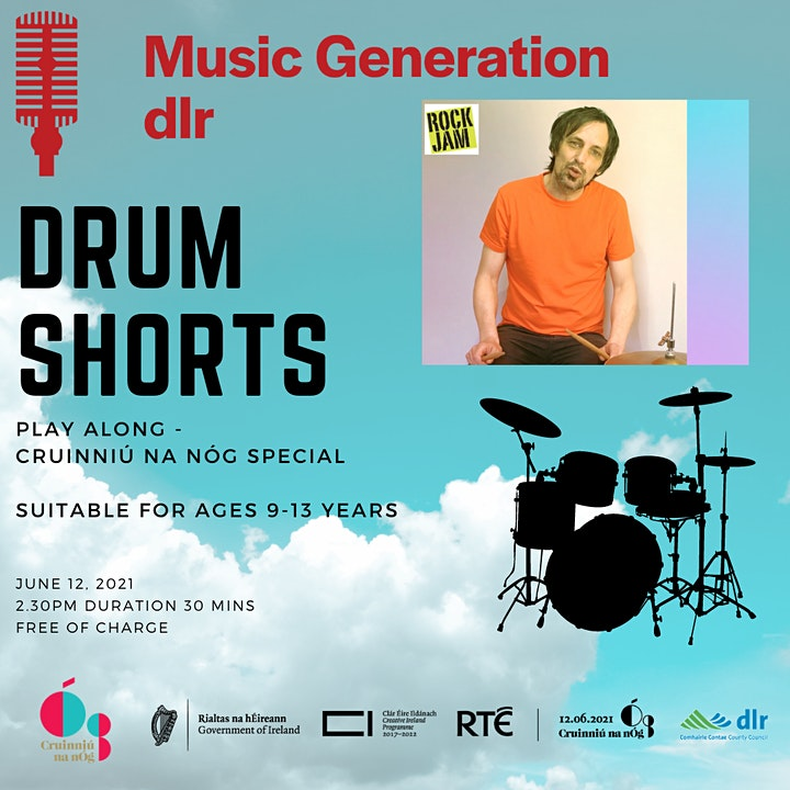 Music Generation dlr  Drum Shorts Play Along Cruinniú Special image