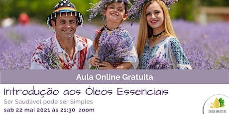 """Aula """"Introdução aos Óleos Essenciais"""" bilhetes"""