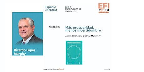 R. López Murphy presenta su libro en ExpoEFI. Miércoles 19 de mayo, 13 hs entradas