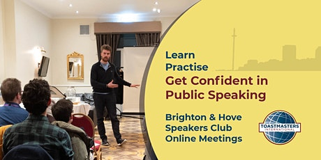 Brighton and Hove Speakers - Learn & Practise Public Speaking Online (FREE) tickets