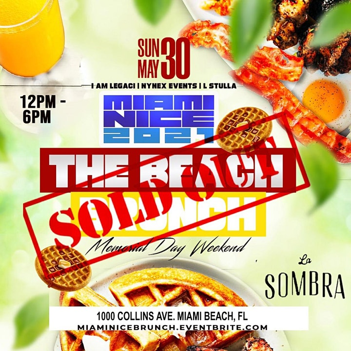 MIAMI NICE 2021 THE BEACH BRUNCH MEMORIAL DAY WEEKEND image