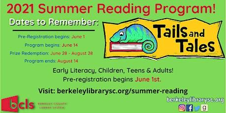 BCLS 2021 Summer Reading Program (Pre-registration begins June1) tickets