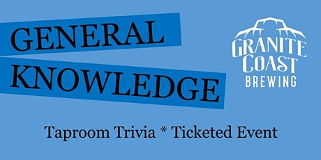 General Knowledge Taproom Trivia tickets