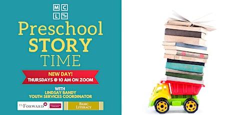 Virtual Preschool Story Time - June, July, & August tickets