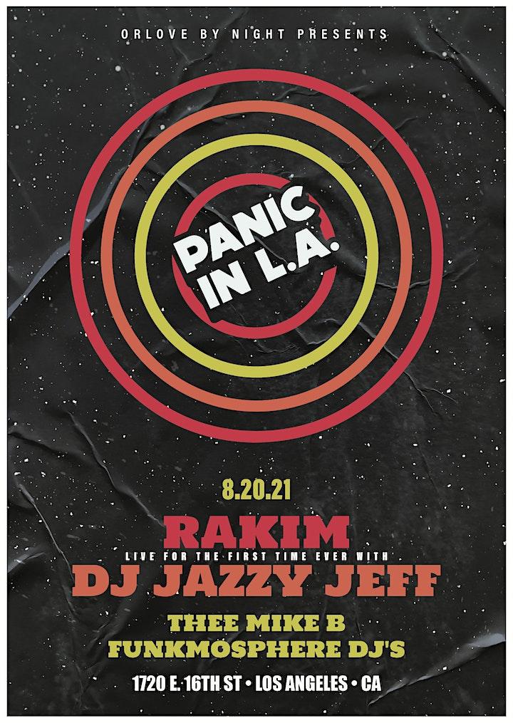 PANIC IN L.A. ft. Rakim, DJ Jazzy Jeff, Thee Mike B, Funkmosphere DJs image