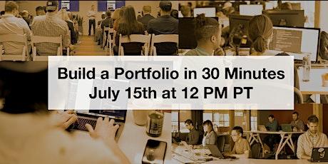 Build a Portfolio Website in 30 Minutes tickets