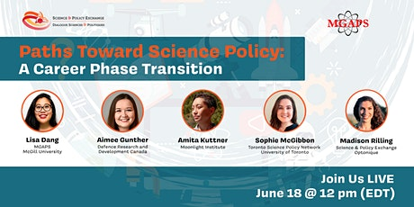 Paths Towards Science Policy: A Career Phase Transition tickets