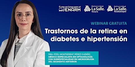 Trastornos de la retina en diabetes e hipertensión boletos