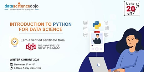 Introduction to Python for Data Science: Winter Cohort tickets