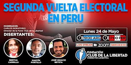 CLUB DE LIBERTAD - SEGUNDA VUELTA ELECTORAL EN PERU entradas