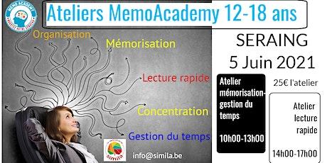 Ateliers  de préparation d'examens MemoAcademy 12-18ans billets