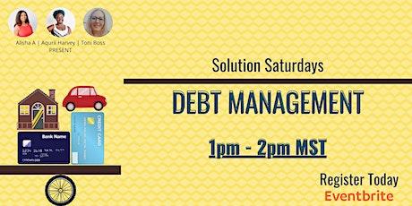 Solution Saturday - Debt Management tickets