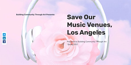 Save Our Venues, Los Angeles! Join us for a free art and music event! tickets