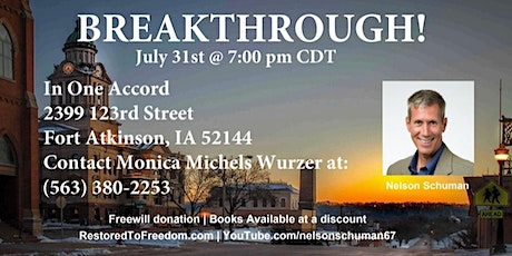 Breakthrough in Fort Atkinson, IA tickets