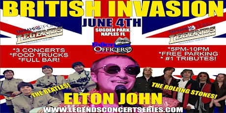 Tamiami Ford Legends Concert  6-4-21 Beatles Rolling Stone & Elton John! tickets