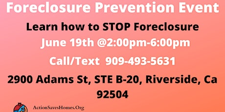 Foreclosure Prevention Event tickets