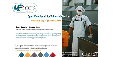 Open Work Permit for Vulnerable Workers bilhetes